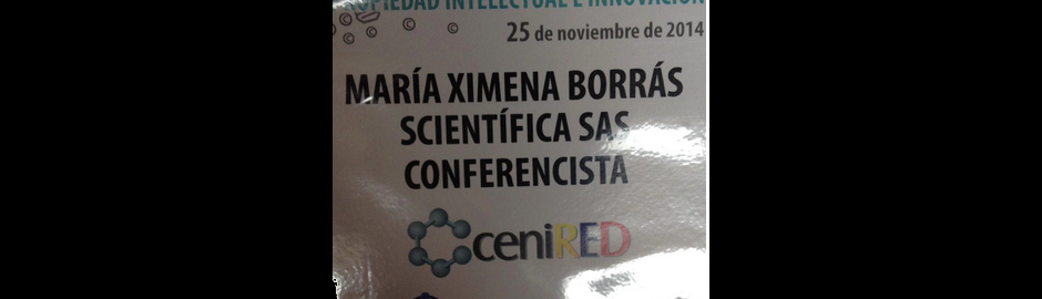 Scientifica, dando una conferencia sobre la Propiedad Intelectual